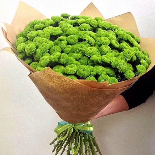 Букет из 21 хризантемы