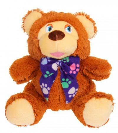 Медведь в синем шарфике (45см)