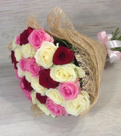 Букет микс 25 роз