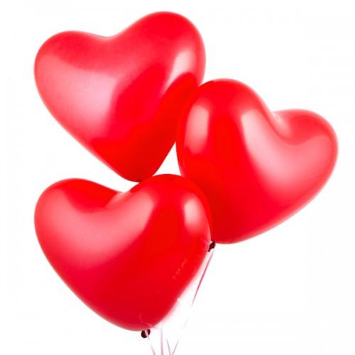 Шары сердце красное